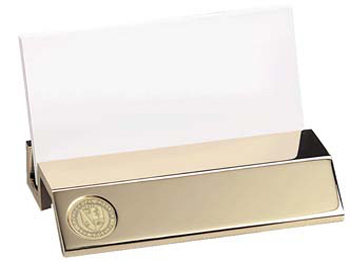 Desk Business Card Holder With Seal