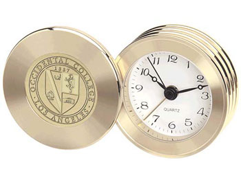 Rodeo Clock Petit W/ Alarm Gold Or Silver