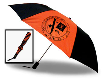 "More Stock Arriving Soon !!  Umbrella 46"" Orange & Black W/Seal Auto Fold"