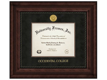 Diploma Frame Executive W Black Suede Mat Occidental College