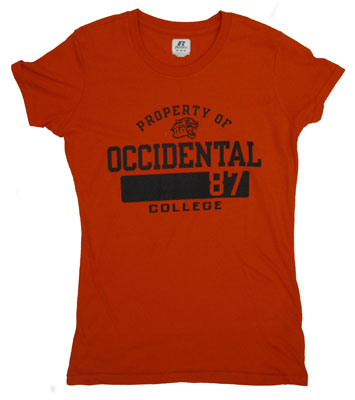 T-Shirt Womens Orange Property Of Oc