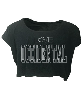 T-Shirt Love Occidental Crop Top