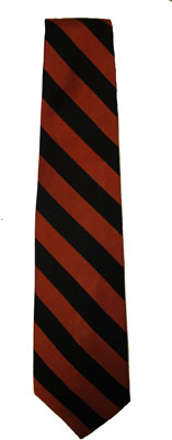 Necktie orange and black stripe