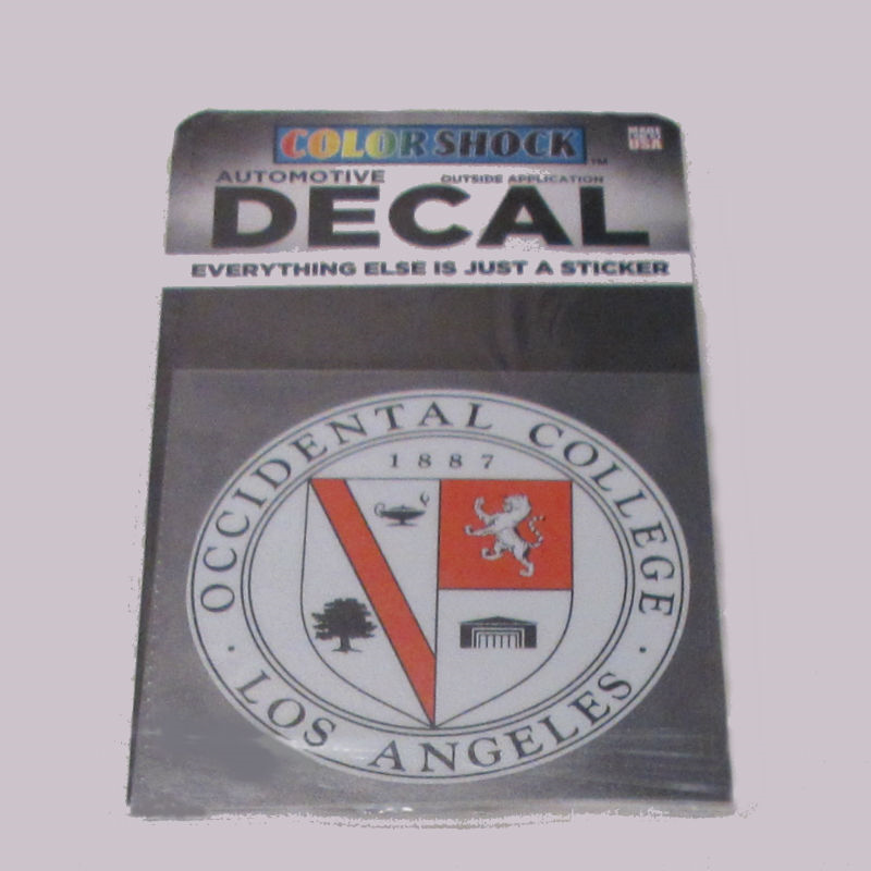 Decal Occidental College Seal 3.5