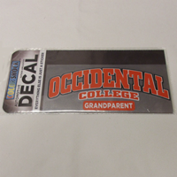 Decal Grandparent Occidental College Color Shock