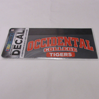 Decal Tigers Occidental College Color Shock