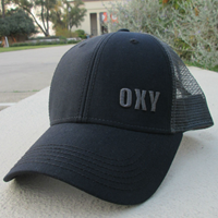 Black Oxy Trucker Hat