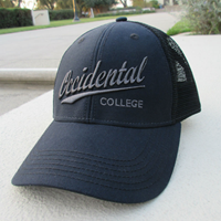 Black Occidental College Trucker Hat