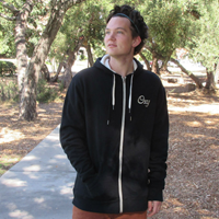 Full-Zip Extra Warm Hooded Sweatshirt With Left Chest Oxy