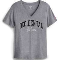 Mom V-Neck T-Shirt Occidental Grey