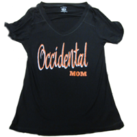Mom V-Neck T-Shirt Occidental Black