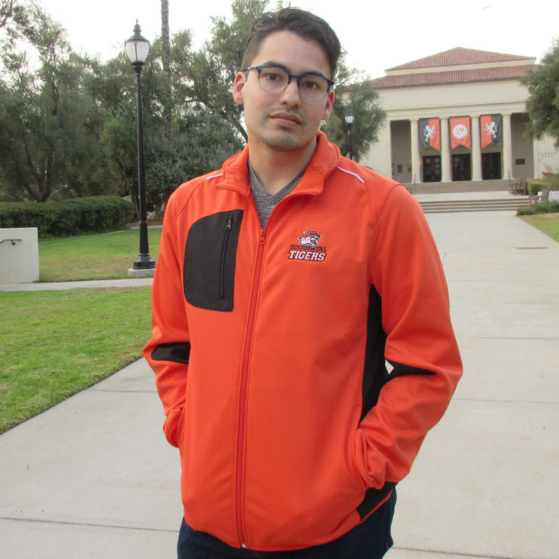 Full-Zip Jacket Orange/Black Left Chest Occidental Tigers W/Tech Pocket (SKU 1182287523)
