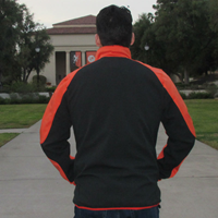 FULL-ZIP JACKET ORANGE/BLACK LEFT CHEST OCCIDENTAL TIGERS W/TECH POCKET