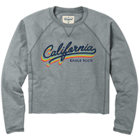 LADIES CROP SWEATSHIRT CALIFORNIA EAGLE ROCK