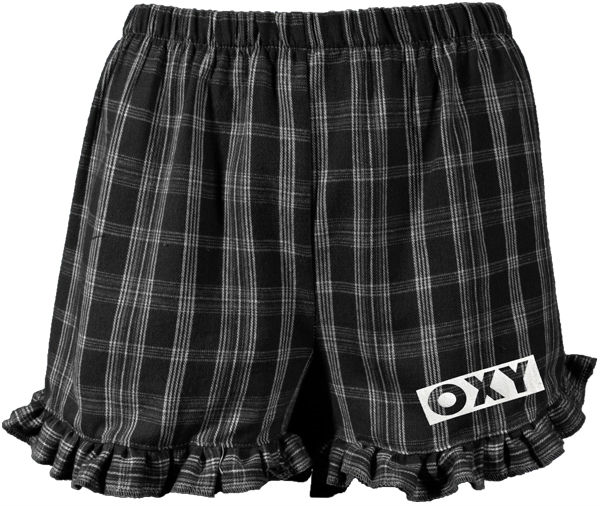 Shorts Ladies Ruffle Hem Plaid (SKU 1182674320)