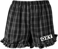 Shorts Ladies Ruffle Hem Plaid