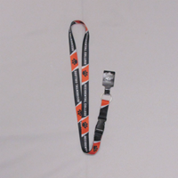 "Lanyard 3/4 "" Black & Orange Sublimated Oc Paw Repeating"